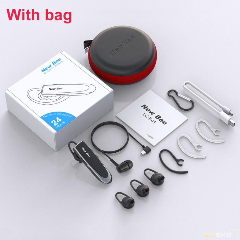 Bluetooth 5.0 гарнитура New Bee LC-B41 с автономностью работы до 24 часов
