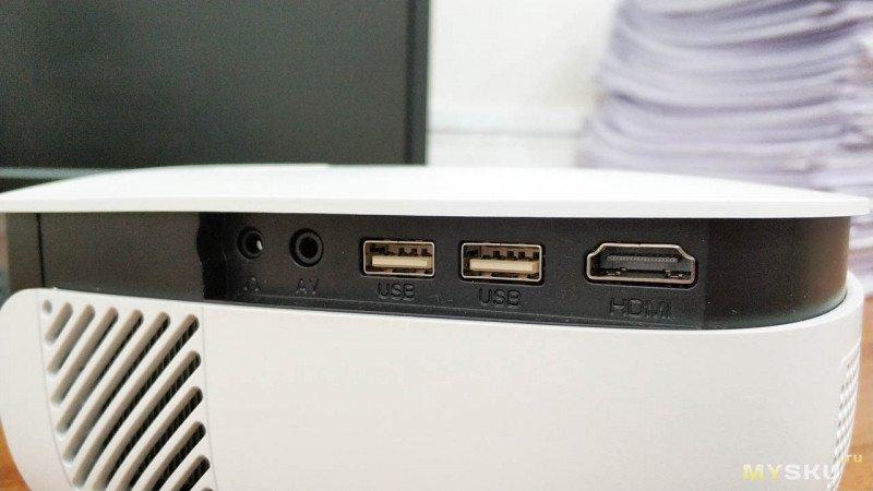Проектор для домашнего использования - Rigal RD850A 720p + Wi-Fi Miracast