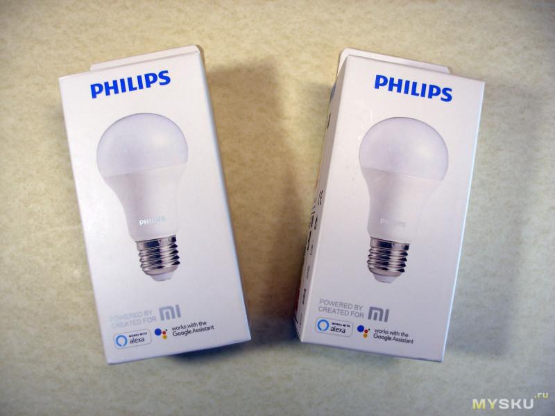 Обновленные до 9 Ватт и управляемые по Wi-Fi  LED лампы Xiaomi Philips с цоколем E27.
