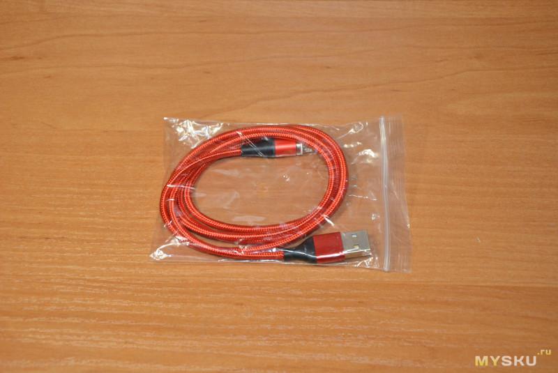 Магнитный кабель USB-microUSB длиной один метр и индикатором напряжения