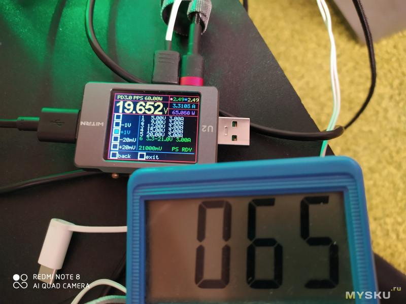 Зарядное устройство Baseus 65 Вт GaN (часть вторая) Тест нагрузкой.