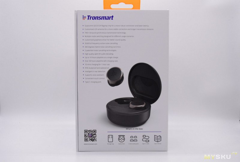 Tronsmart Apollo Bold TWS звук на флагманском аудио чипе QualcommChip QCC5124