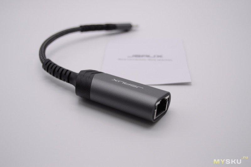 Адаптер USB-C  на Ethernet от Jsaux