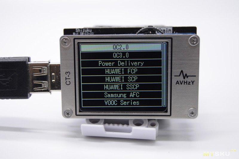 USB тестер CT3 от AVHzY  с модулем SM-LD-00