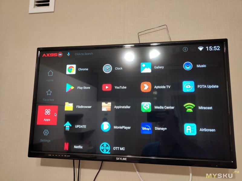 AX95 DB Android TV Box - он молод и горяч.