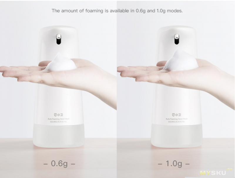 Автоматический диспенсер для мыла Xiaowei W66018XP