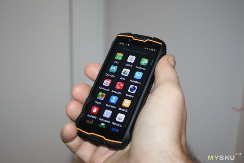 "Cмартфон Cubot KingKong MINI - 4"" QHD18:9, MT6761, 4G Dual-SIM, Android 9, 2000mAh, 3GB+32GB, 13+8Mpx"