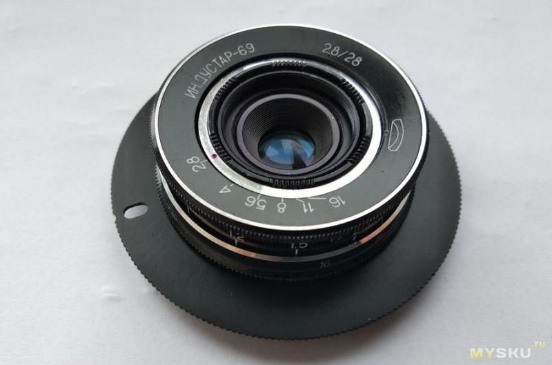 """Объектив Индустар-69 2,8/28 от фотоаппарата """"Чайка"""". Разборка, профилактика и небольшой тест."""