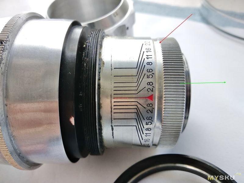 Объектив Таир-11 2,8/133  М39/1 рабочий отрезок 45,2 мм . Профилактика геликоида и замена смазки.