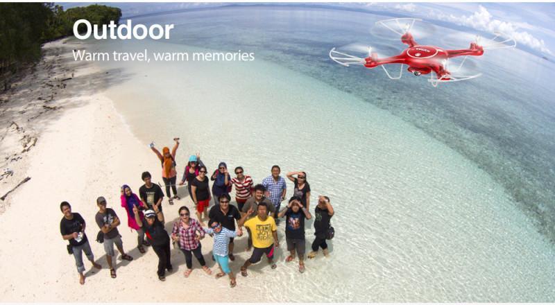 Квадрокоптер Syma X5UW c камерой Wi-Fi за 38.99$