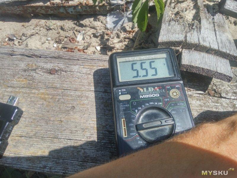 Минитестирование солнечныз панелей в Power bank