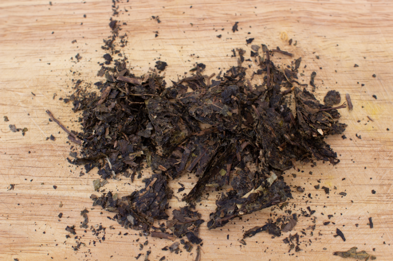 Тёмный чай от завода Байшаси