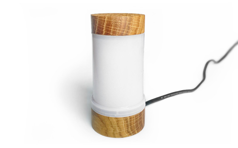 Лампа с имитацией горящего пламени и ночник на её основе
