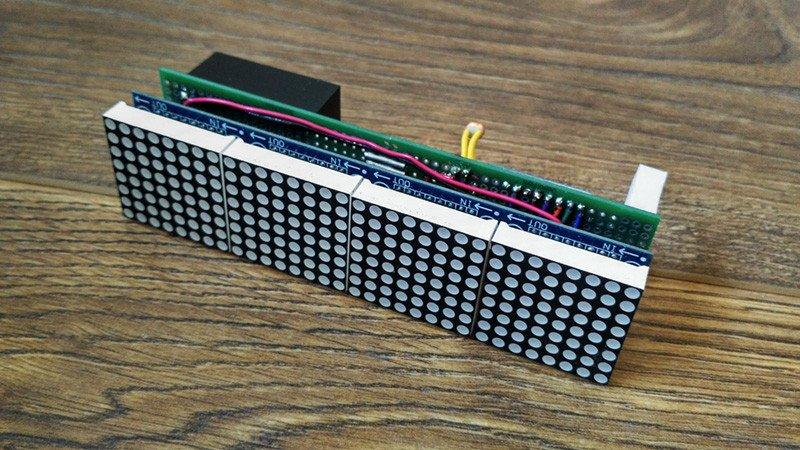 Часы с Wi-Fi на светодиодных матрицах