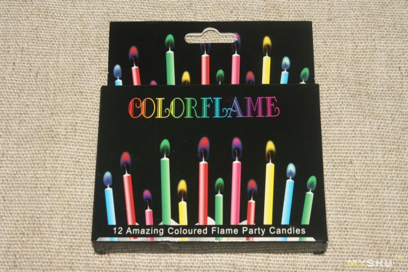 Свечи с разноцветным пламенем. Добавь огонька в тортик