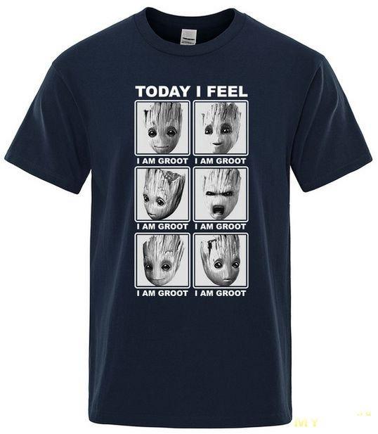Качественная футболка с принтом Малыша Грута. А какой Грут сегодня ты?