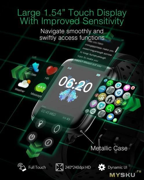 Предзаказ на обновленные смарт-часы BlitzWolf BW-HL1Pro за $ 25 (+ доставка .15)