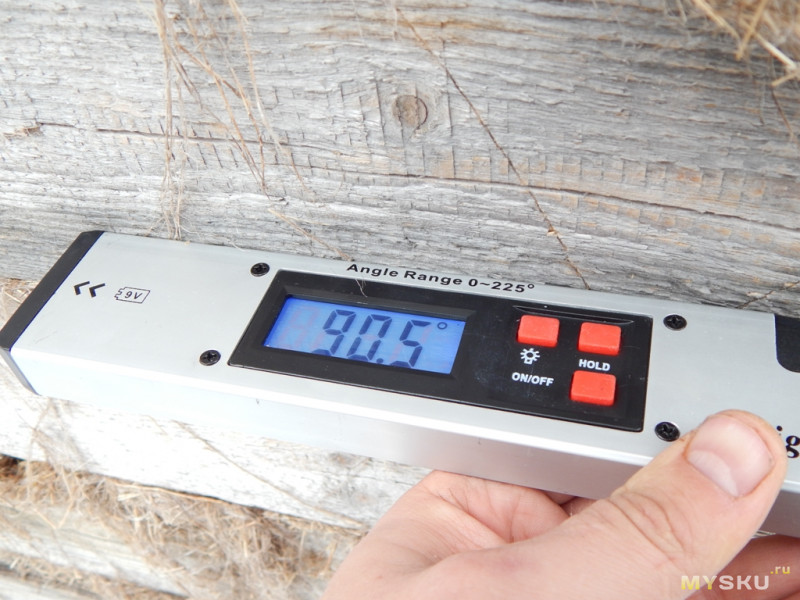 Цифровой угломер 0°-225° с пузырьковым уровнем