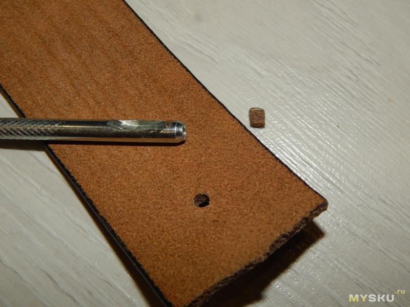 Мужской ремень из натуральной кожи BISON DENIM N71223. Тестируем