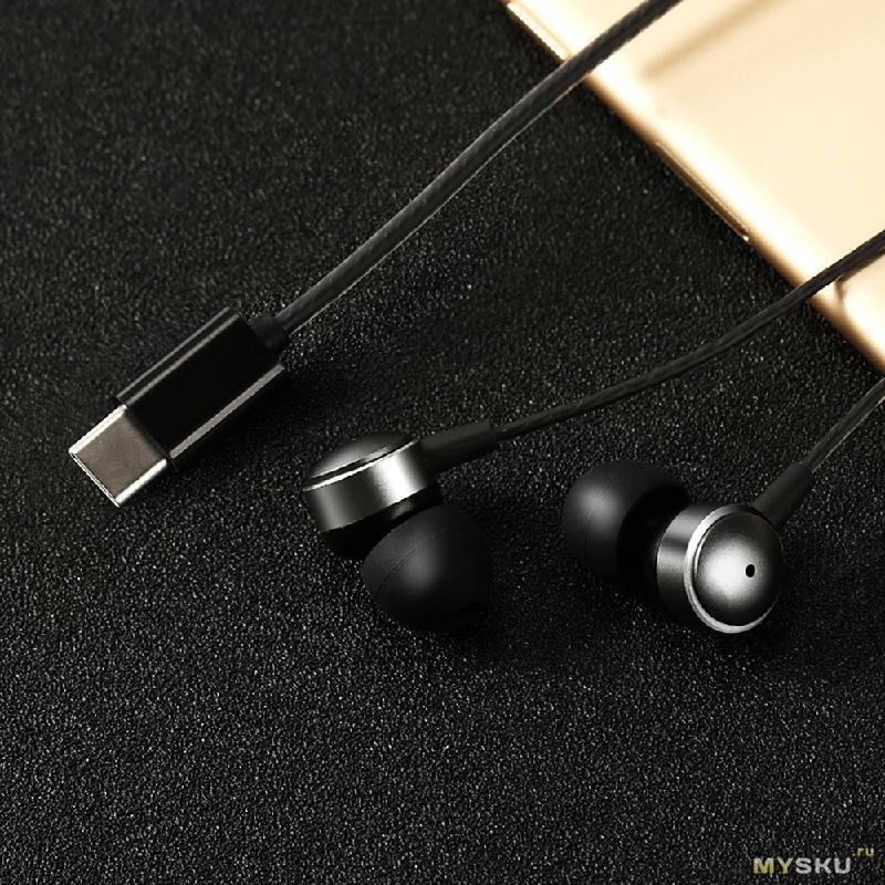Проводные наушники с разъемом USB Type-C за 0,69$ и расческа с массажным эффектом за 0,66$
