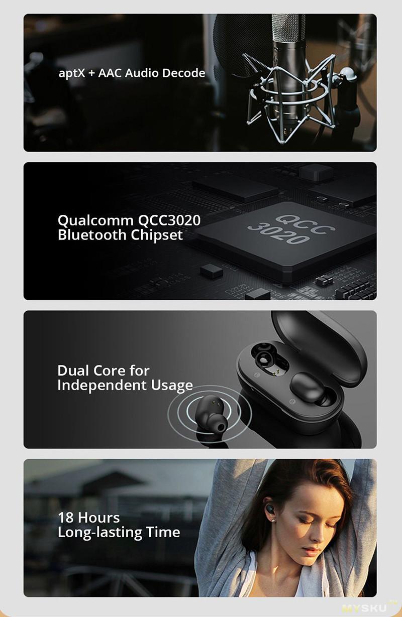 Беспроводные наушники Haylou GT1 Plus на Qualcomm QCC3020 с APTX за 19.99$