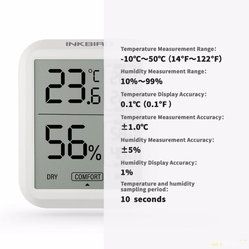 Цифровой термометр/гигрометр Inkbird ITH-20R с выносным датчиком за 17,48$