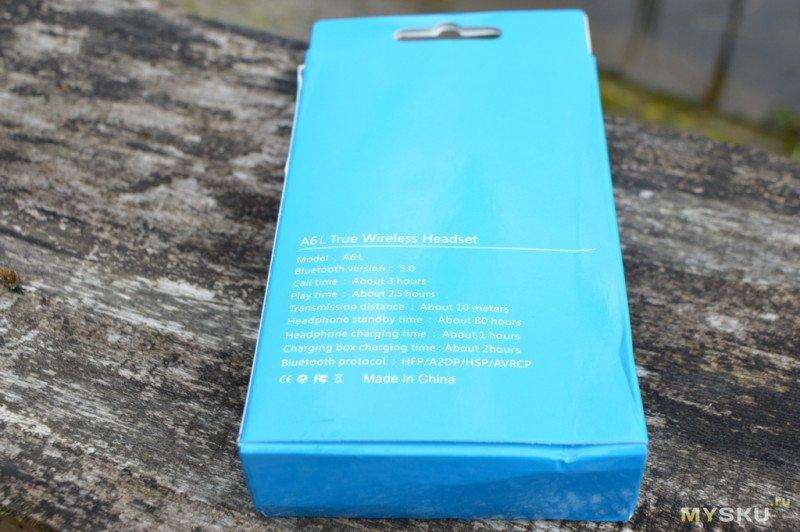 Беспроводные TWS наушники A6L с Bluetooth 5.0