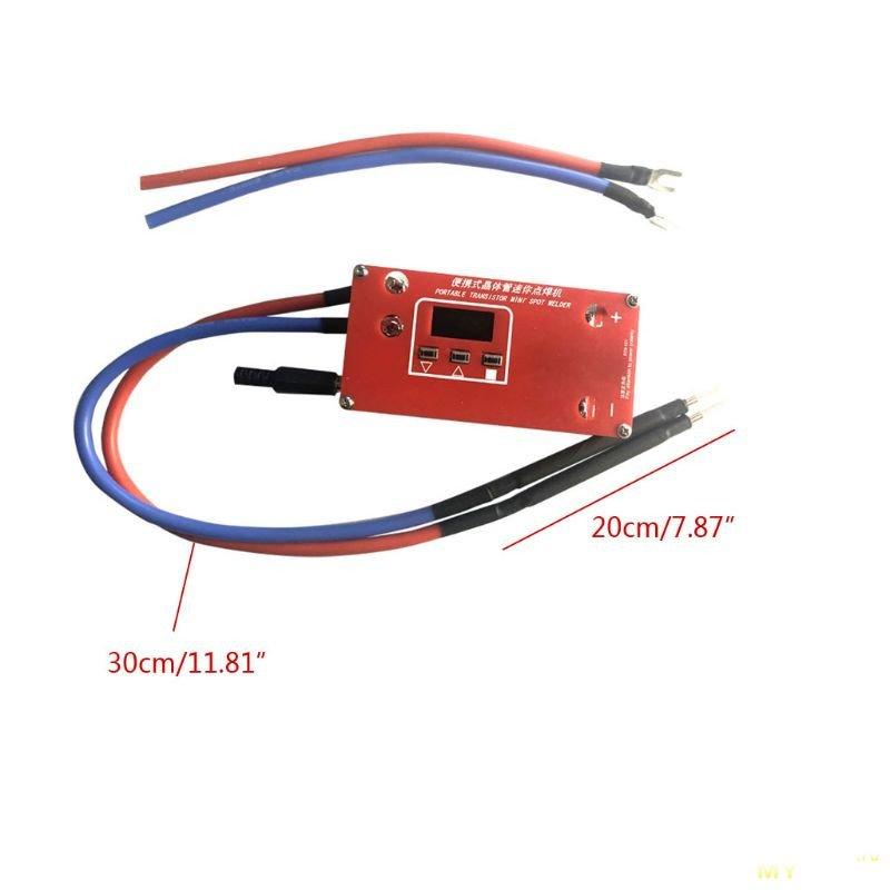 Сварочный аппарат с ЖК-Дисплеем для сварки 18650 аккумуляторов за 17.99$