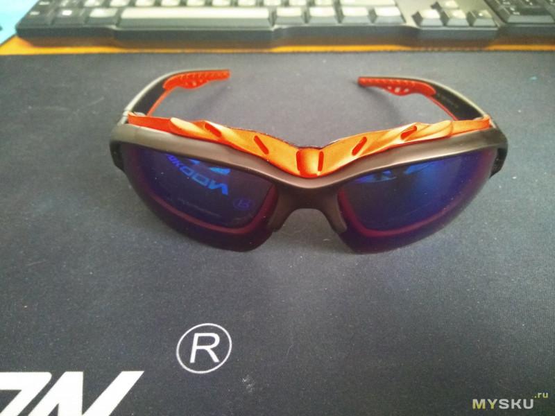 Велосипедные очки плотно прилегающие к лицу с защитой от ультрафиолета (UV400)
