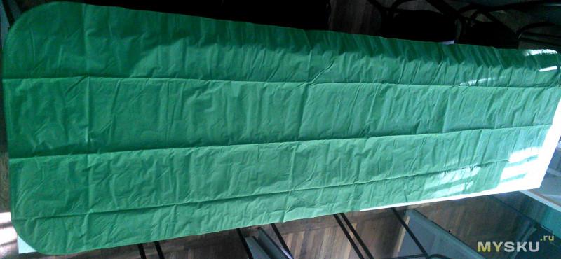 Туристический надувной матрас с подушкой