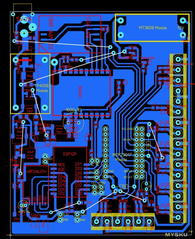 GSM сигнализация на ESP8266. Часть 1. Основной блок.