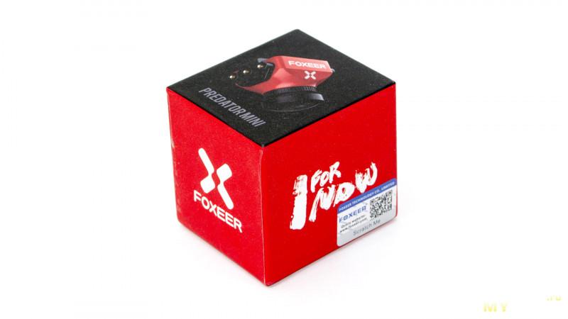 Курсовая камера для fpv моделей foxeer predator mini На задней стороне упаковки находится стикер с указанием подробных характеристик камеры и информации о производителе устройства