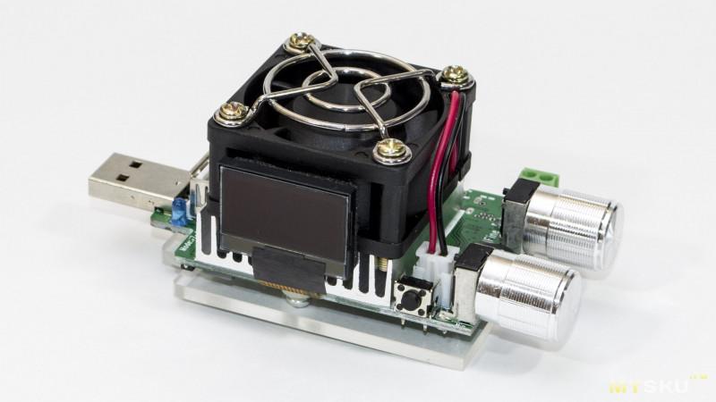 Электронная нагрузка (35W) совмещённая с USB тестером, плюс триггер с поддержкой QC2.0/3.0