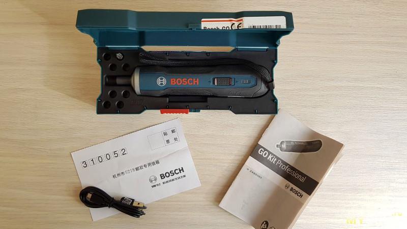 Аккумуляторная отвертка Bosch Go для мелкобытового ремонта. Компактная и достаточно мощная.