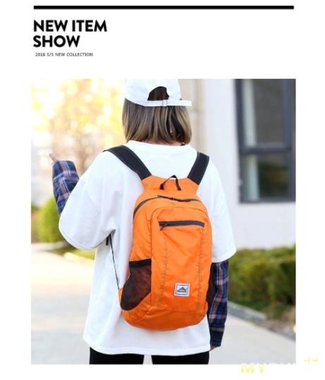 Складывающийся (в карман) рюкзак за $  4.39 с бесплатной доставкой