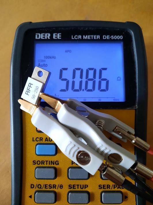 Резистор постоянный непроволочный высокочастотный на 50 Ом