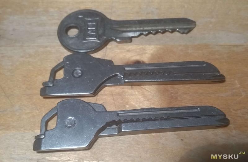 Сравнение двух клонов SWISS+TECH, мультитула, успешно притворяющегося ключом