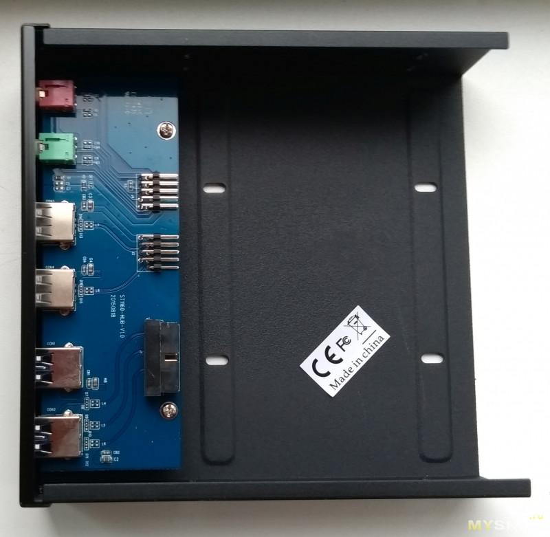 """Unestech ST1160 - на редкость качественно исполненная панель с USB портами и аудио в 5"""" отсек, с местом под 3.25"""" HDD/SSD"""