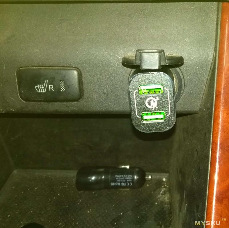 WAZA CY3601 - годная автомобильная зарядка с двумя независимыми Quick Charge 3.0 портами