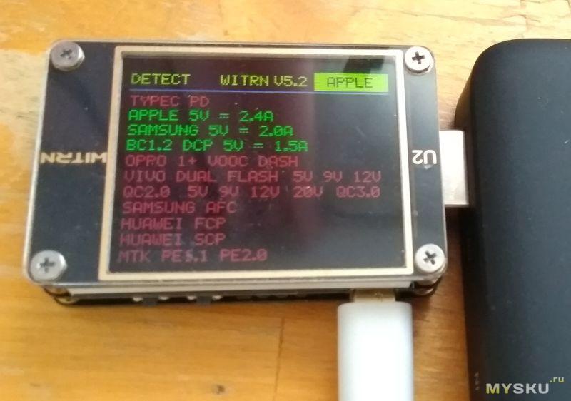 Ugreen PB124 10000 mAh - внешний аккумулятор на 18Вт - PD 2.0, QC 3.0 и пр, TypeA, TypeC, беспроводная зарядка Qi 10Вт