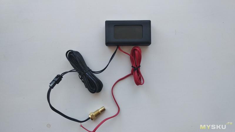 Датчик температуры ОЖ с LED экраном для любого автомобиля
