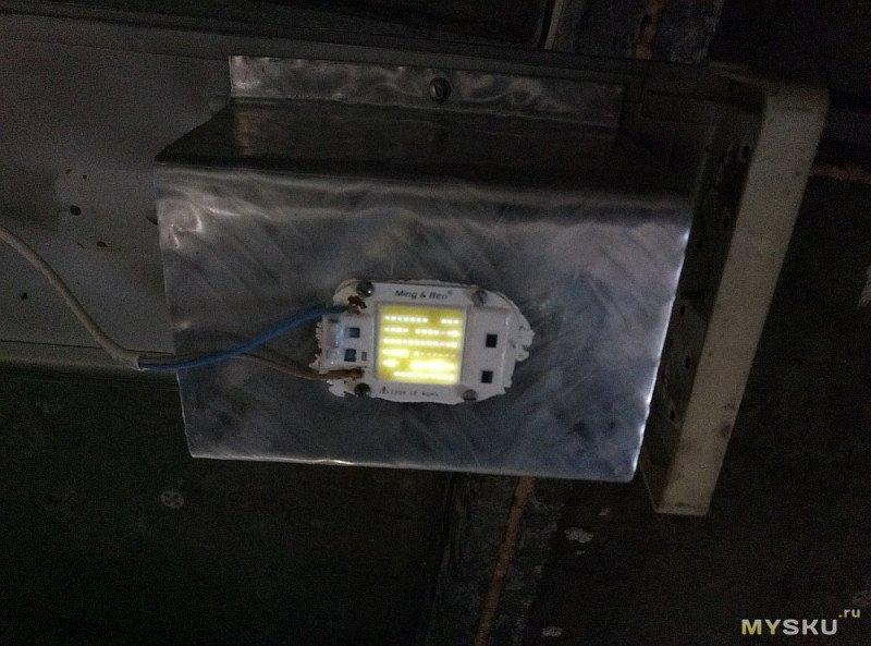 Освещение гаража светодиодными матрицами 30W/220V