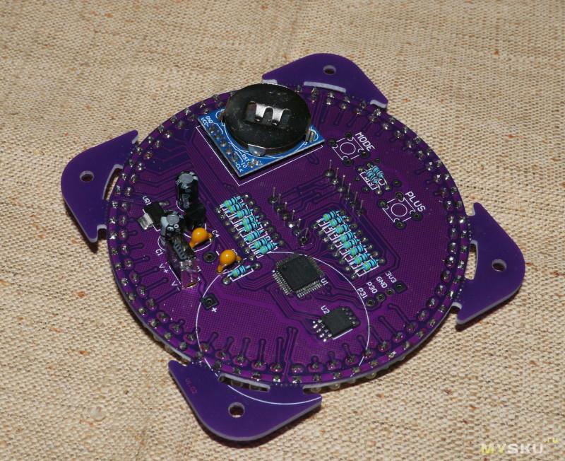 Geekcreit EC1838A - Набор для сборки LED часов с будильником на модуле DS1302.