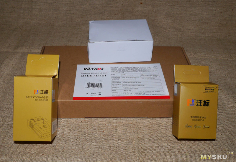 Viltrox L116T - фото, видео свет 15W с регулировкой яркости и световой температуры.
