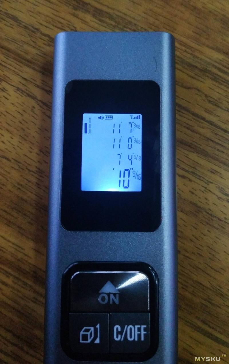 Портативный лазерный дальномер c встроенным аккумулятором и зарядкой по USB