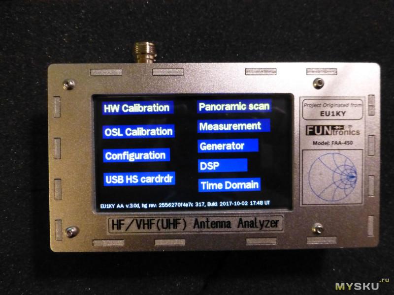 Пластиковый корпус 158x90x60мм для антенного анализатора EU1KY