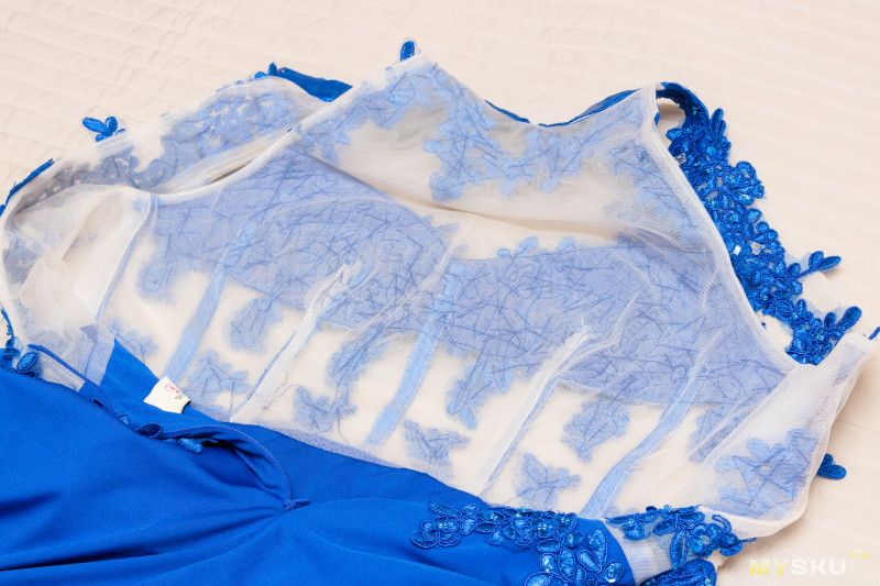 Синее вечернее платье длина макси от Grace Karin