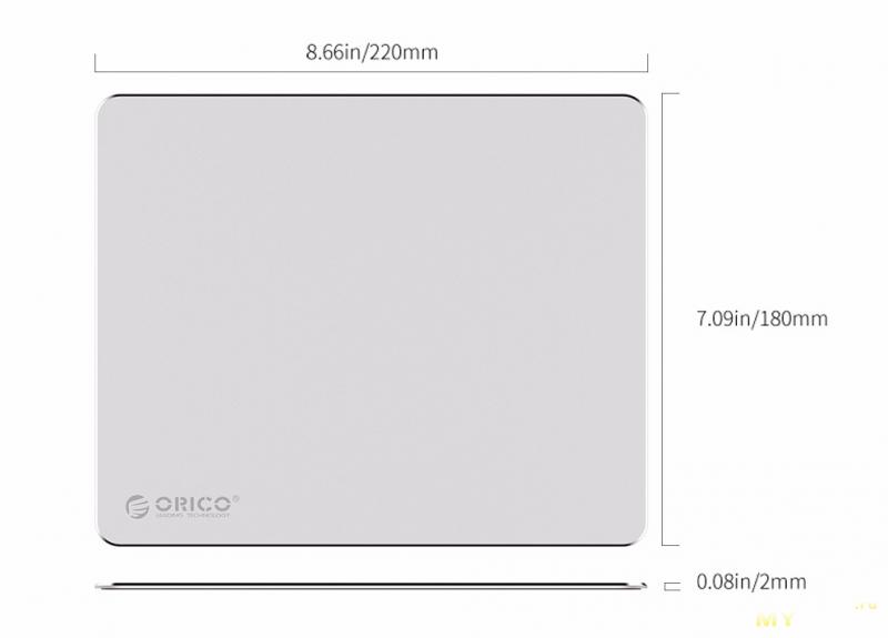 Алюминиевый коврик для мышки Orico после 8 мес эксплуатации
