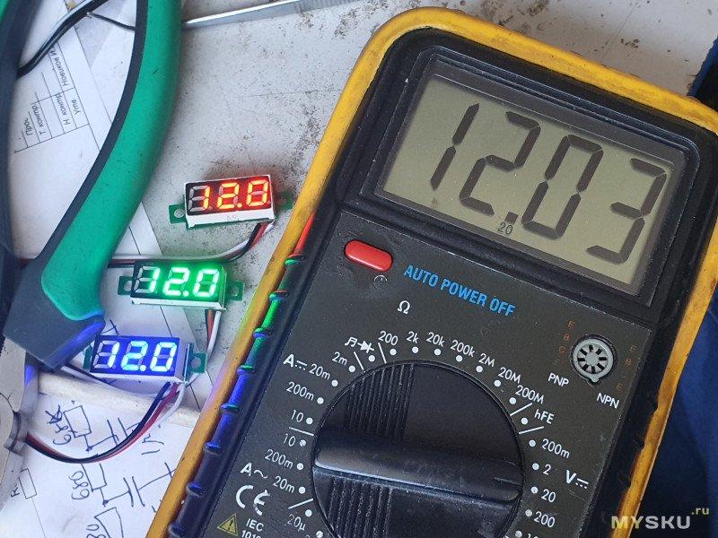 Не дорогие вольтметры размером 0,28 дюйма и неплохой точностью