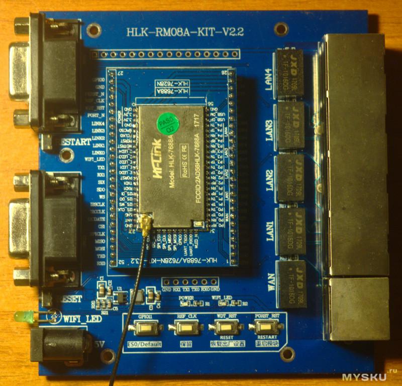 Отладочная плата на MT7688AN с богатым функционалом и поддержкой OpenWRT.